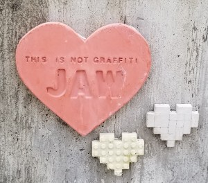 jaw heart, auburn hearts, graffiti heart, street art heartm jakobi artworks, jakobi