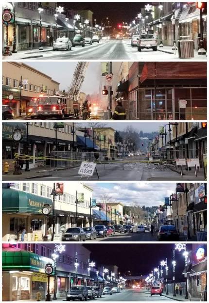 Auburn wa, Main Street USA, Auburn Wa Main Street, Downtown Auburn, Auburn in the snow, heritage building, heritage building fire, heritage building fire, #heritagebldgfire, vrfa, auburn, heritage building
