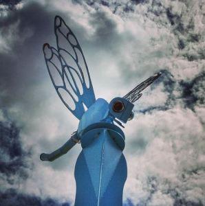 sculpture, auburn wa, dragonfly