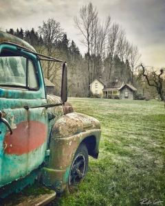 Mary Olson Farm, Historic Farm, Vintage truck, old farm, patina