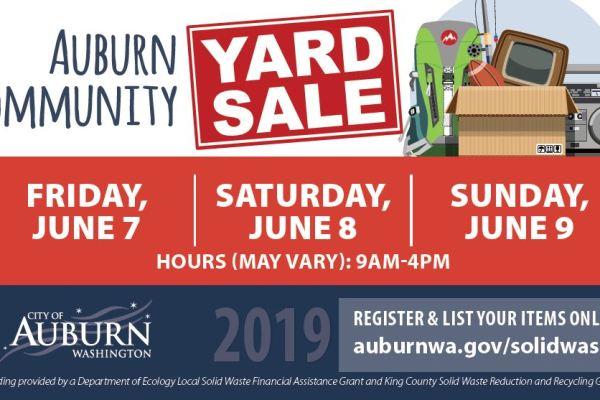 community yard sale, auburn community yard sale, garage sale, city of auburn, auburn wa