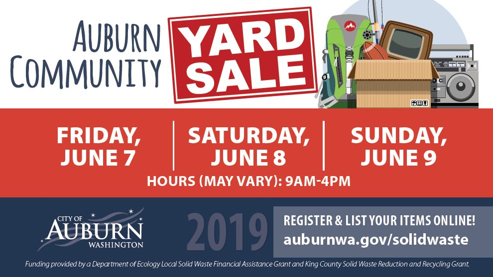 community yard sale, auburn community yard sale, garage sale, city of auburn, auburn wa