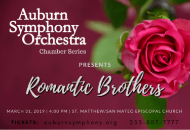 Auburn symphony orchestra, chamber series, romantic brothers