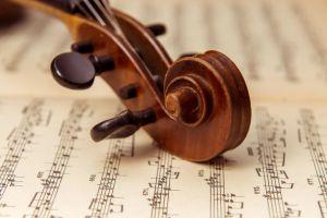 violin, sheet music, auburn symphony orchestra