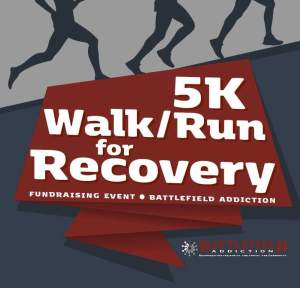 battlefield addiction, battlefield coffeehouse, battlefield addition 5k, 5k walk/run for recover, 5k for recovery,