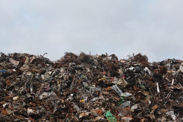 landfill, brown trash, land fill