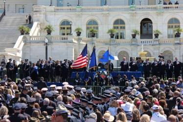 38th annual peace officers memorial, us capitol, trump