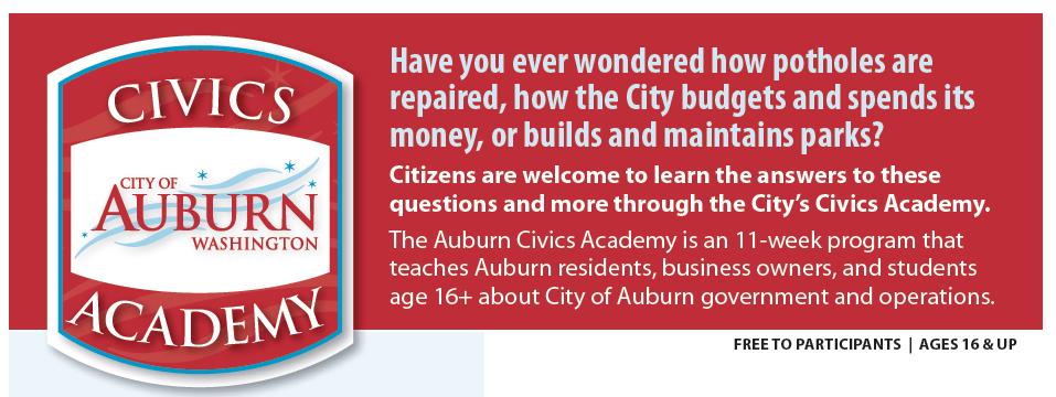 city of auburn, civics academy, auburn wa
