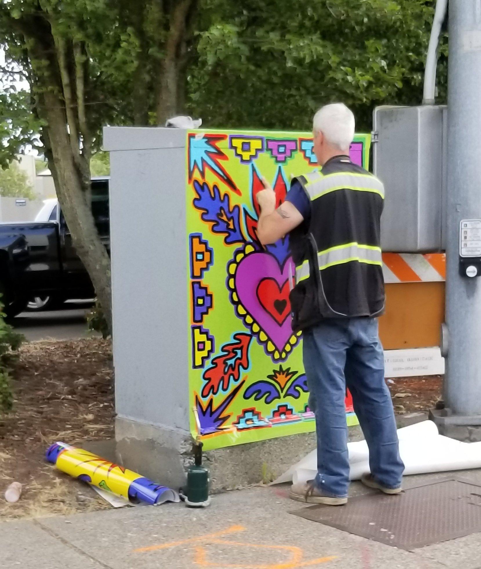 utility box art, public art, auburn wa art,