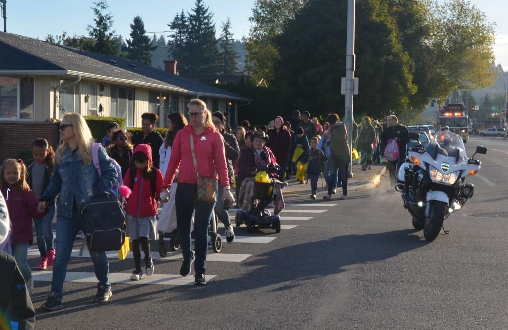 vrfa, apd, city of auburn, auburn wa, asd, washington elementary, walk to school, international walk to school day