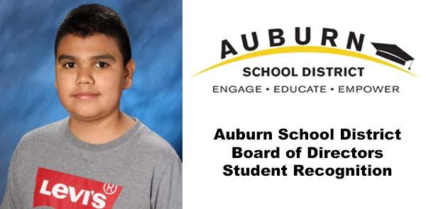 asd, Jose Sanchez Valdez, olympic middle school, outstanding student of the month, auburn school district, asd