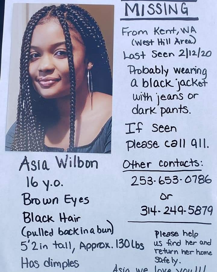 Updated 16 Year Old Kent Teen Missing Since Wednesday Auburn Examiner