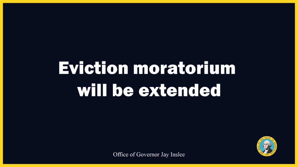 Eviction moratorium washington state, inslee eviction moratorium