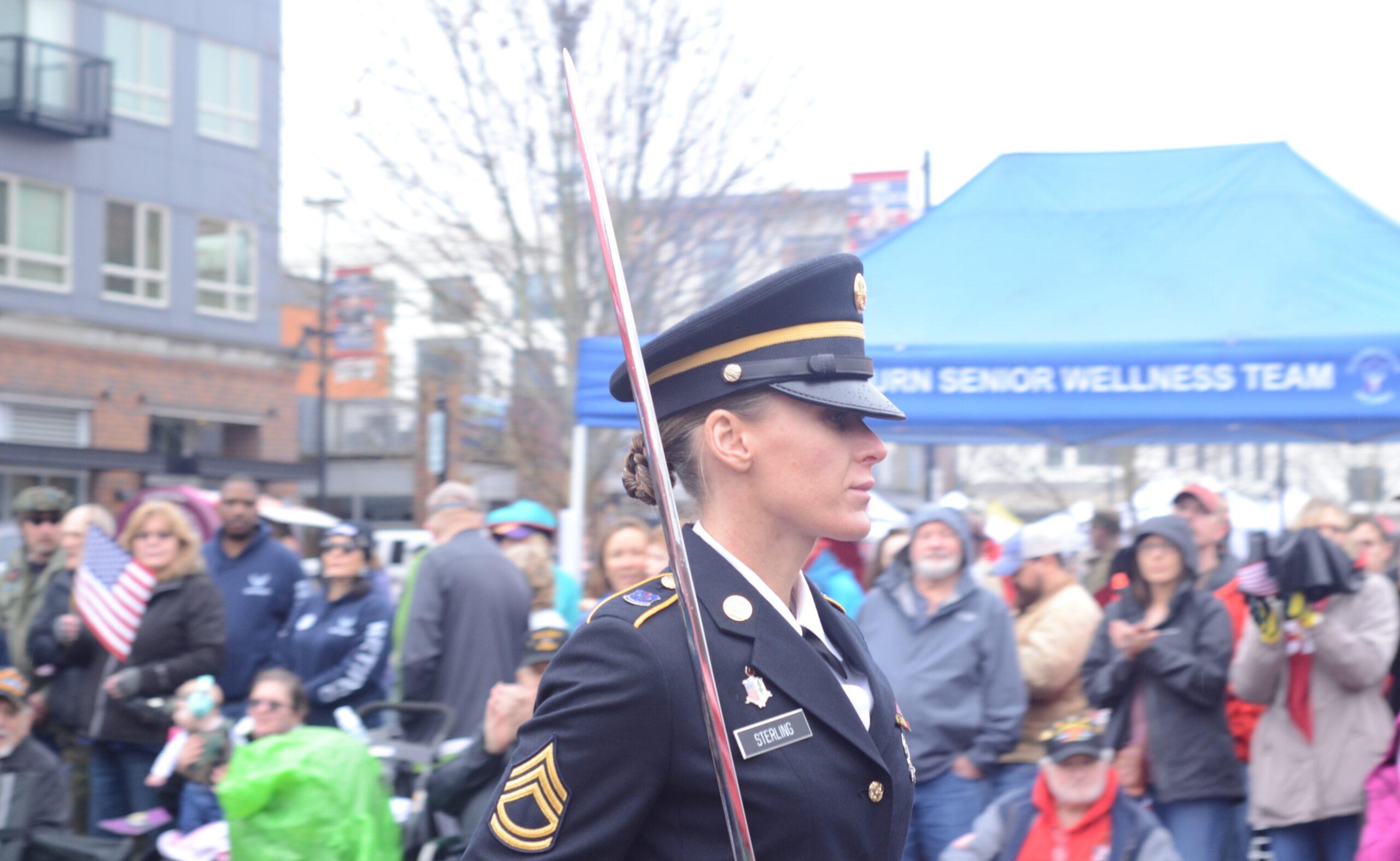 Sterling, US Army, Female officer, Auburn City Verterans Parade, Vertans Day Parade, 54th Verterans Parade, Auburn 54th Veterans Parade,