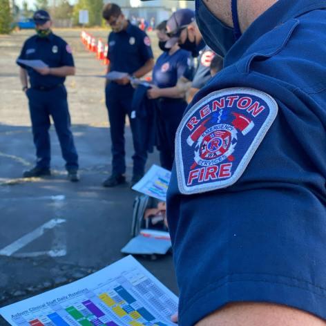 Covid-19, covid-19 testing site, auburn wa covid-19 testing site, renton fireighter, renton fire department covid-19, covid-19 firefighter, medic one covid-19, renton fire department covid-19 testing