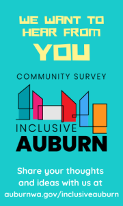 inclusive auburn, auburn wa, city of auburn, auburn washington, auburn community survey