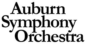 Auburn symphony orchestra logo in black and white