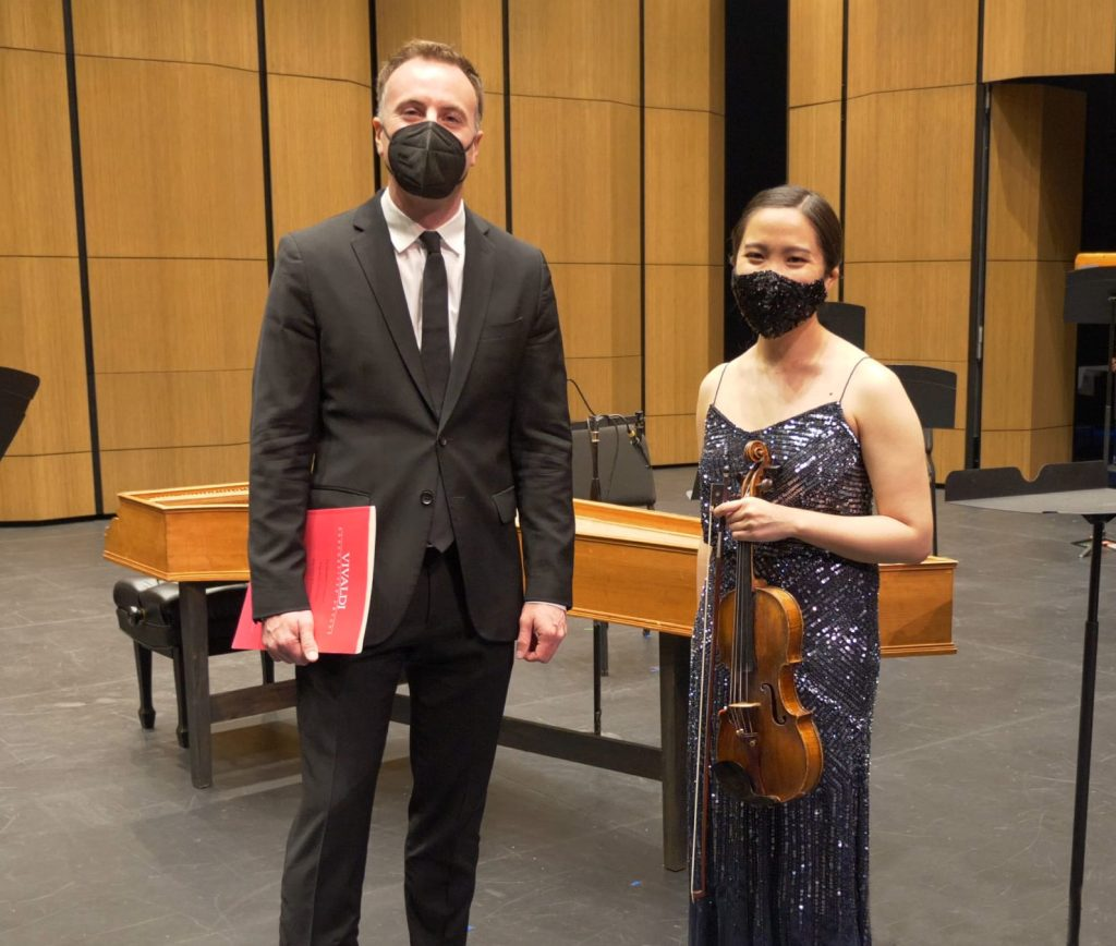 Music Director Wesley Schulz and Concertmaster Emilie Choi