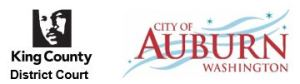 city of auburn and king county district court logos