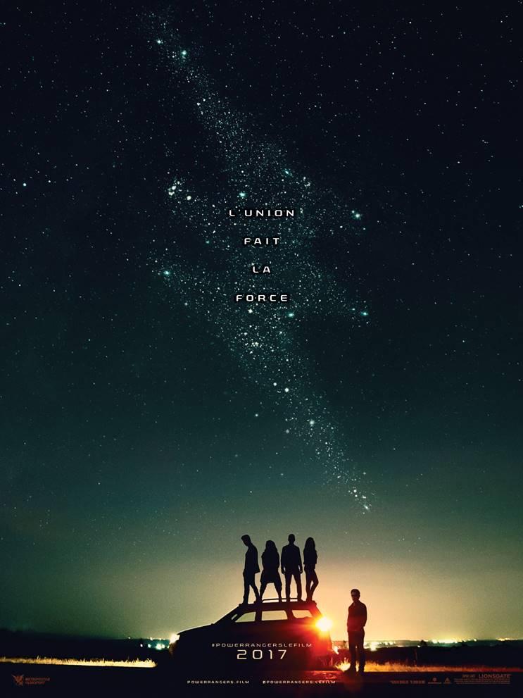 Power Rangers affiche film 2017