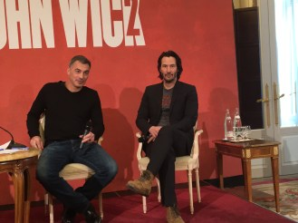 John Wick 2 press conference Keanu Reeves photo 2