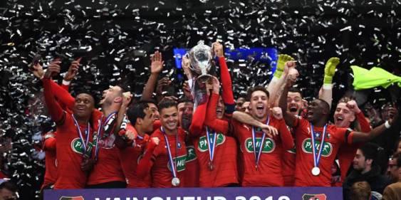 Ligue 1 saison 2018-2019 : les Rennais se sont qualifiés pour la Ligue Europa grâce à leur victoire en Coupe de France