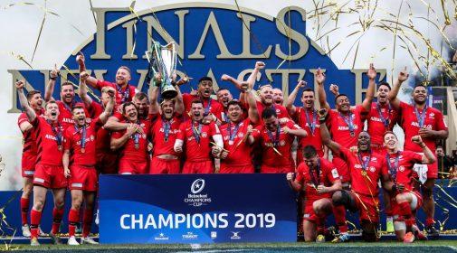 Champions d'Europe en titre, le club des Saracens de Londres évoluera la saison prochaine en deuxième division anglaise pour avoir entravé les règles du salary cap.