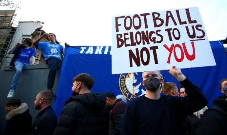Les fans de Chelsea se sont fortement mobilisés pour exprimer leur refus à la création de la Super Ligue.