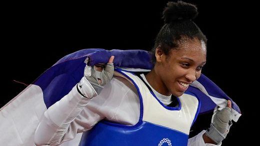 Althéa Laurin a apporté la 7ème médaille à l'Equipe de France.