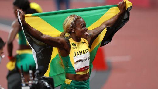 Elaine Thompson-Herah a réalisé le triplé 100m, 200m, 4x100m à Tokyo.