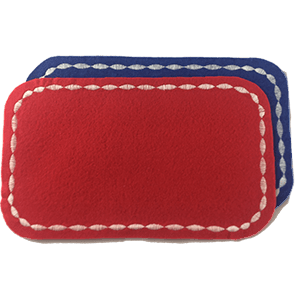 LOT 2 MINIS TAPIS ROUGE BLEU face