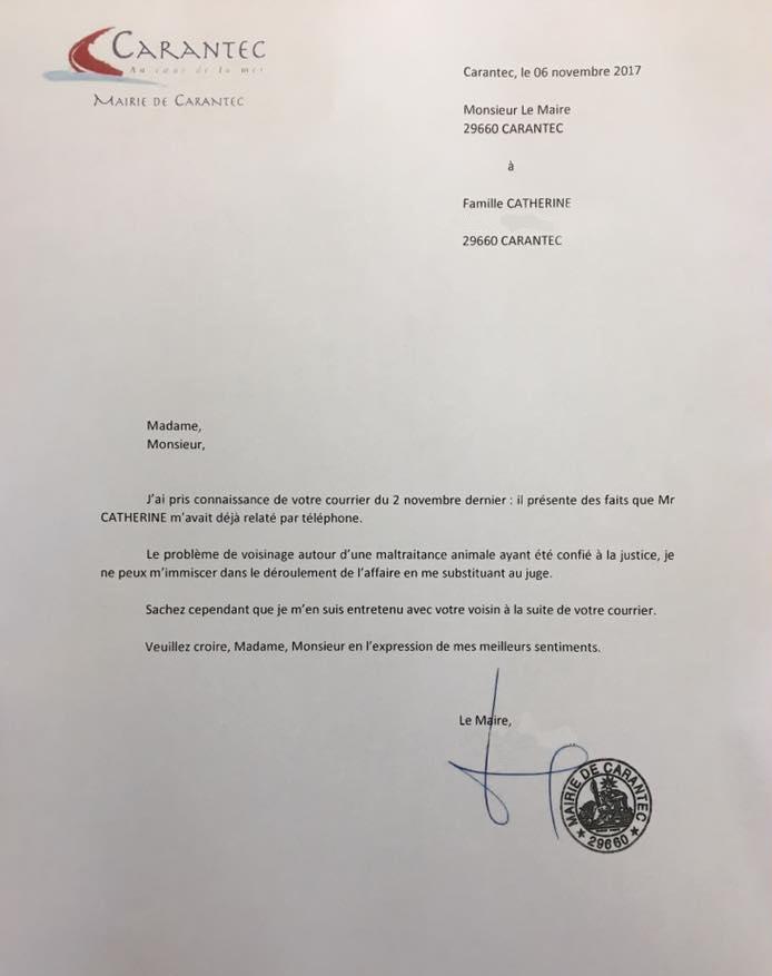 réponse du maire