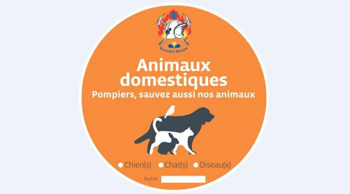 Des autocollants pour avertir les pompiers de la présence d'animaux en Belgique !