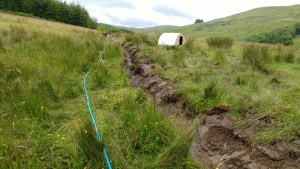 burying the outflow pipe