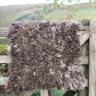 handmade felted fleece rug
