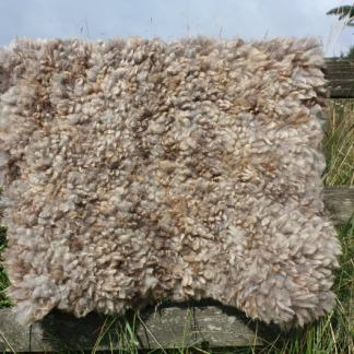 homegrown felted fleece rug - vi