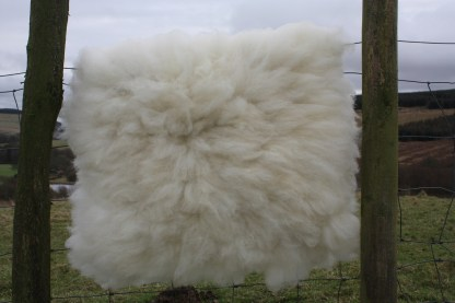 felted sheepskin rug Mandy