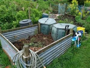 compost bin emptied