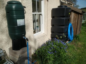 water tanks in place