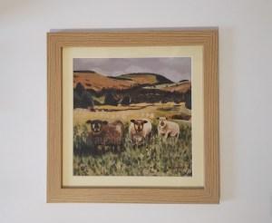 Sheep print - Yin Yarr & Yogi framed