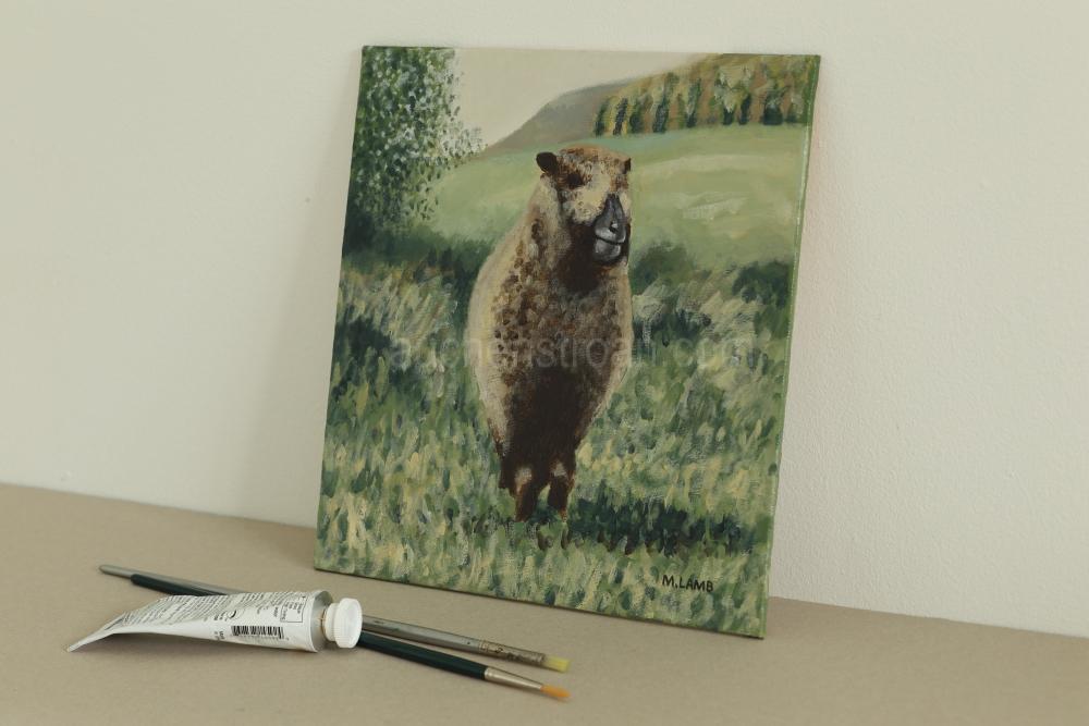 Farm animal pictures - Yoko framed - Ynca original