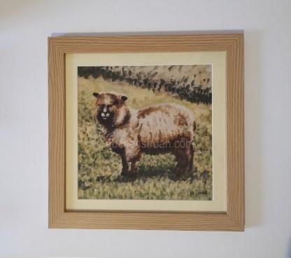 sheep framed print - Yggy coloured ryeland
