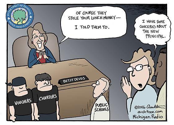 Image result for betsy devos cartoon