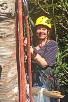 Julia climbing kauri