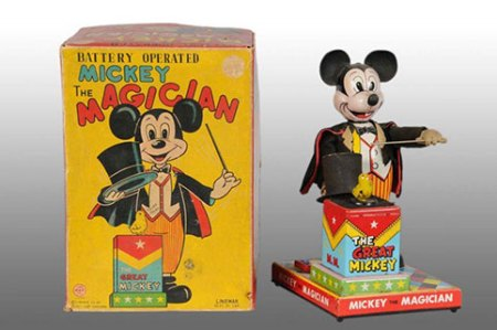 Mickey Mouse Magician Vintage Toy
