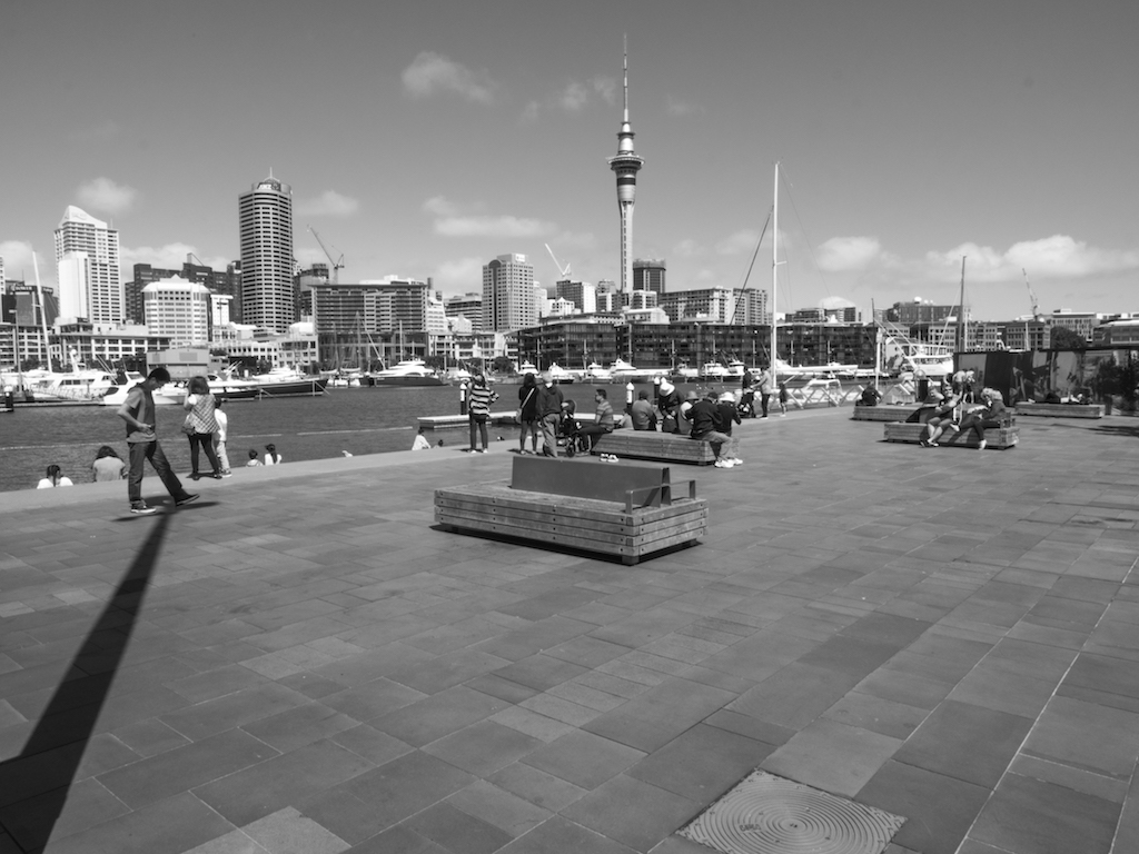 Viaduct Harbour - Black -White - Street Photography - Auckland