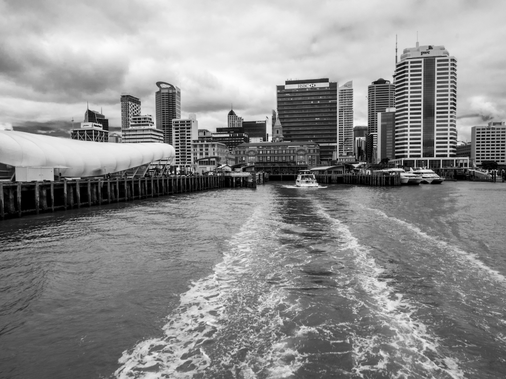 Harbour Ferry - Black & White - Street Photography Auckland