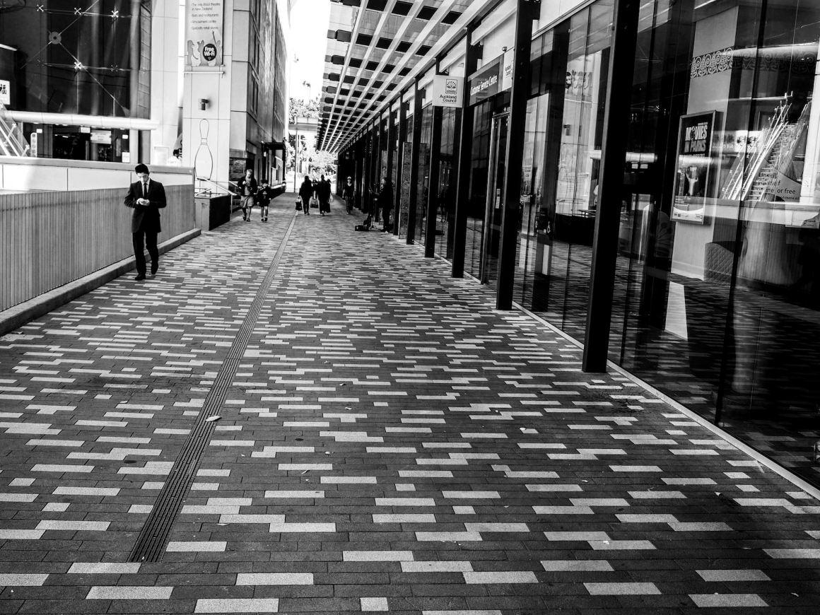 Aotea Square - Black & White Street Photography Auckland