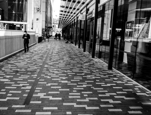 Aotea Square - Black & White Street Photography Auckland