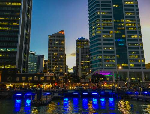 CBD Waterfront at Night - Street Photography Auckland